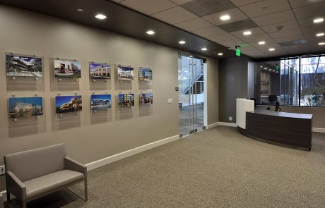 Colliers - Lobby at Hacienda West, a 208,883 SF Class A office project located in the prestigious Hacienda Business Park in Pleasanton, CA