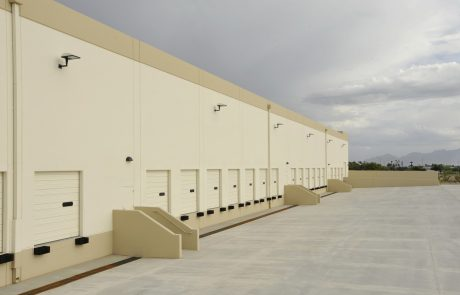Loading docks at Tucson Airport Distribution Center industrial office building
