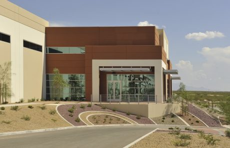 Exterior of Tucson Airport Distribution Center industrial office building