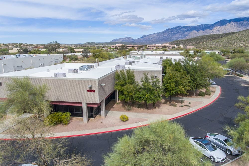 Aerial view of Oro Valley Commerce Center building 10831
