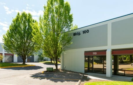 Greentree West Business Park is a 322,340 SF, three-building light industrial/flex project configured for multiple tenant use in Beaverton.