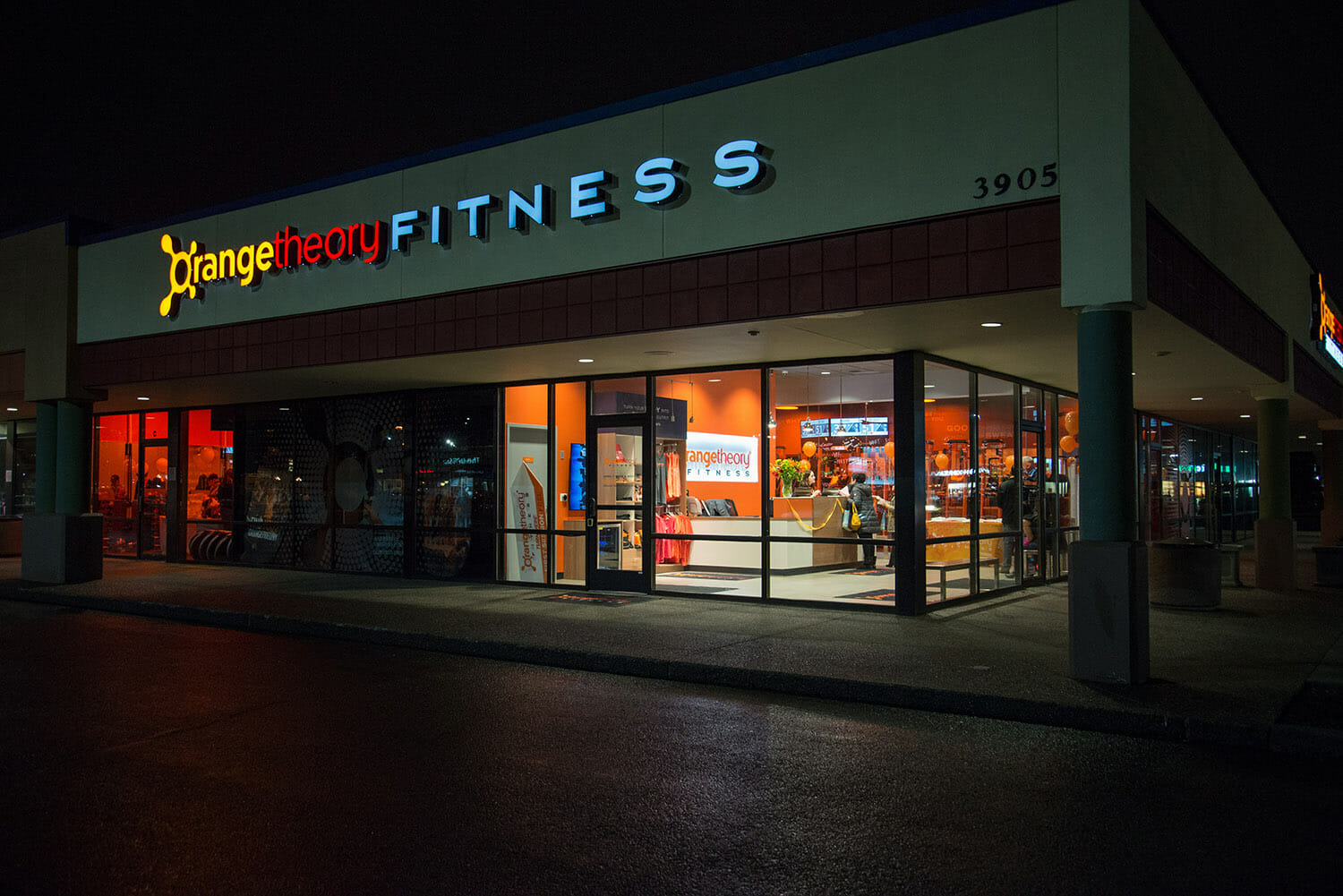 Orange Theory Fitness storefront in Beaverton, OR