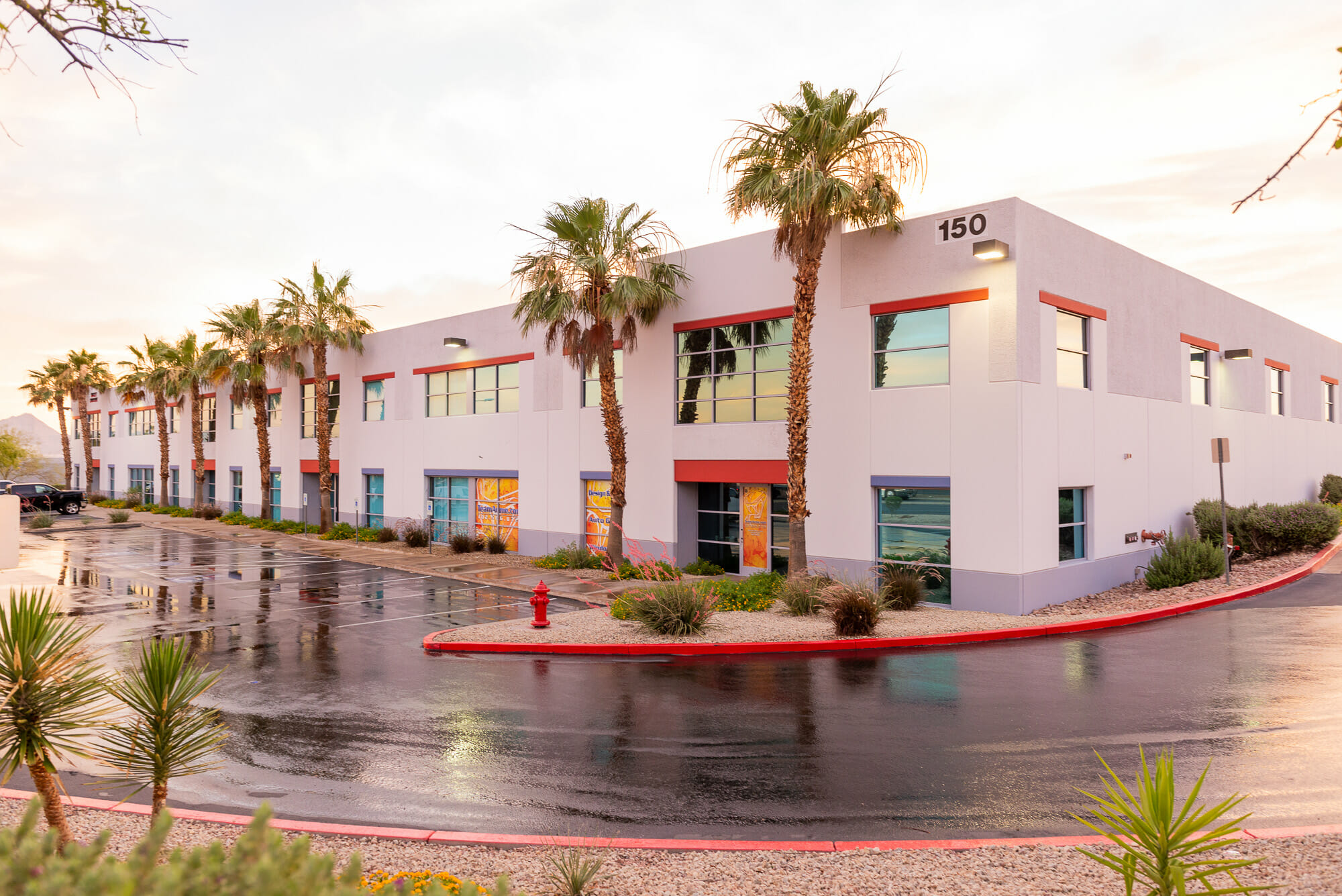 Consisting of over 32,000 SF of office and warehouse space, 150 North Gibson Road offers nearby access to I-215 and great visibility in Henderson, Nevada.