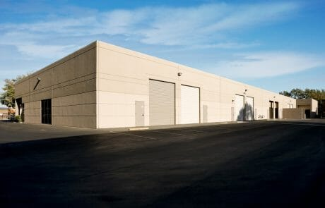 Roll up doors and loading area at Polvorosa Business Park