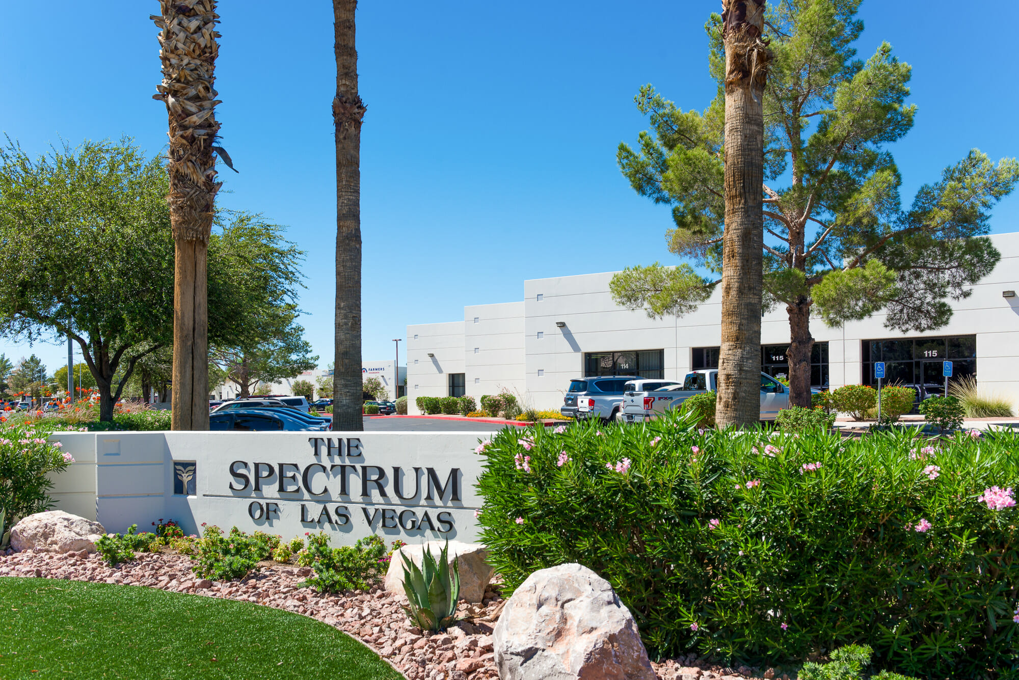 Monument sign for The Spectrum of Las Vegas