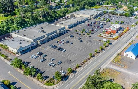 Aerial view of Cascade Commons