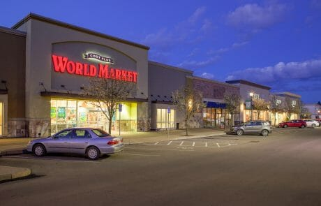 Cost Plus World Market at Gresham Station Shopping Center at night