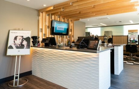 Receptionist desk for Hair M