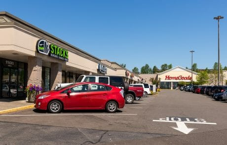 Stacks burgers and Homegoods at Seatac Village Shopping Center