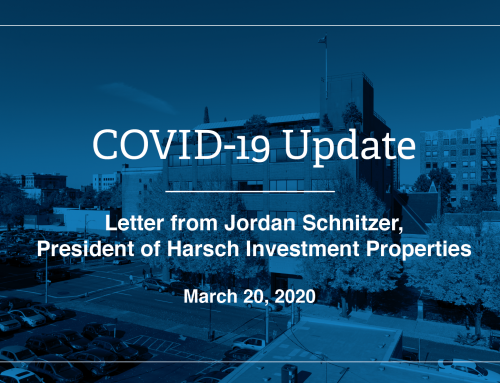 Letter from Jordan D. Schnitzer, President of Harsch